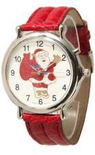 Christmas Musical Santa Claus Large Geneva Watch, Plays 3 Christmas Tunes NEW