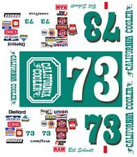 #73 Bill Schmitt California Cooler 1986 Monte Carlo 1/32nd Scale Slot Car Decals
