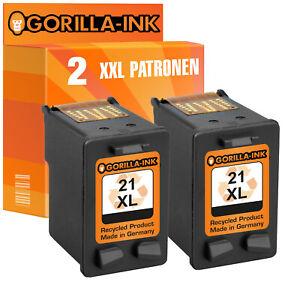 Druckerpatrone Tinten Patrone 2x Black für HP 21XL HP 350XL HP 62XL HP 901 XL