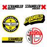 Adesivi Ducati X Scrambler sticker vintage  Decal auto moto print pvc 6 pz.