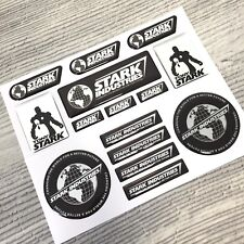 15pc Iron Man Stark Industries Tony Chrome 3d resin domed emblem decal stickers