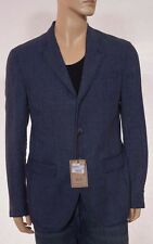 CC Collection Corneliani Men's Blue Denim Linen Sport Coat Blazer Jacket 48 38 R