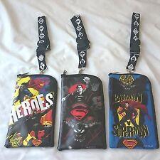 3 pcs DC Comics Batman VS Superman ID Lanyard Ticket iPhone Badge Holder Wallet