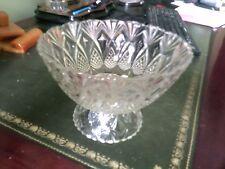 Antique Glass Fruit Bowl,  Antique 1950s Glass Fruit Bowl