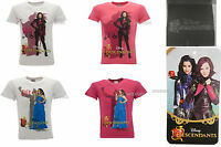 T-Shirt Descendants Original Disney Mal et Evie Fuchsia Blanc Produit