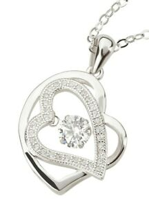 Damen Halskette mit Anhänger Herz Modeschmuck Fashionschmuck Etui Herzkette