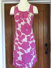 Adini Linen Pink And Beige Dress New Size S 8/10