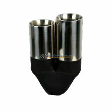 """2.5"""" INLET - TWIN 3"""" OUTLET STEPPED INNER CONE REDBACK STAINLESS EXHAUST TIP"""
