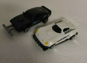 """Lot of 2 FAST AND FURIOUS RACER CAR MADE FOR MCDONALDS 2019 Plastic 3 1/2"""" EUC"""
