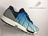 bafe64ef721 Adidas ZX Flux NYC Brooklyn Bridge Blue Black Mens NY B39523 US Size 10 Rare