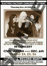 Johnny Winter Still Alive & Well 1973 Ultra Scarce Full Ticket Pink&White+2 More