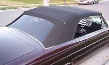 OLDSMOBILE F85, CUTLASS   1964-65 CONVERTIBLE TOP+WINDOW - BLACK HAARTZ VINYL
