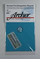 Archer 1/35 Tetra German Fire Extinguisher Placards AFV & Vehicles WWII AR35266
