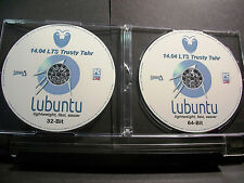 Lubuntu 14.04.5 Linux LTS 32 & 64-Bit DVD LIVE/Install+Case Sticker+Extras (New)
