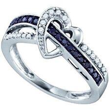 0.25ctw Black Diamond Heart Ring 10K White Gold