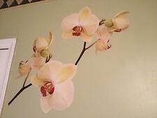 2 x Orchid Flowers - Wall Decal - Deco Art Sticker Mural