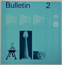 "Olympische Spiele 1972 München ""Bulletin 2"" Otl Aicher OLYMPIA OLYMPIADE"