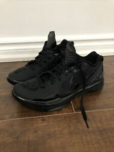 Nike Zoom Hyperdunk 2012 Low Mens Basketball All Black Shoes Size 11