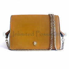 ZARA  8708 Crossbody Shoulder Bag Tan Medium Gold Tone Hardware Tags