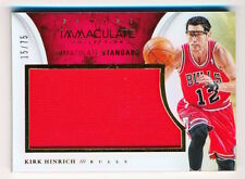2013-14 Immaculate Kirk Hinrich Acetate Standard Jumbo Jersey #60 (xx/75) - QTY