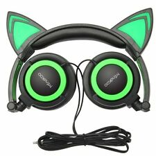 Cat Ear Headphones MindKoo Flashing Glowing Cosplay Fancy Cat Ear Headphones