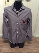 "Next Mens Navy Stripe Shirt M Approx 40"" Chest"