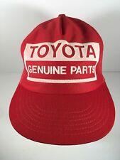 Toyota Genuine Parts Vintage Mesh Trucker Hat Cap Red Snapback USA Made