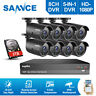 SANNCE HDMI 8CH 1080P CCTV Security Outdoor Camera 2MP DVR Night Vision System