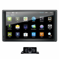 Android 2 Din 7'' Quad-Core Car Stereo Autoradio Bluetooth GPS Navigation Camera