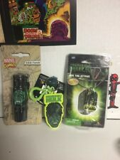 Incredible Hulk Dog Tag, Keychain, and while supplies last LED Torch