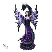 Nemesis Now - Large Guardian's Embrace Purple Fairy & Dragon Figurine - 60cm