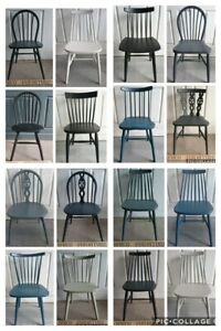 Painted Refurbished Mix Modern Chairs & Ercol Kitchen Dining Chairs Solid Wood