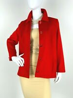 Escada Piacenza 10 US 40 D 46 IT M Red Angora Wool Jacket Blazer Coat Runway