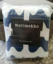 Marimekko Pikku Lokki Full / Queen Quilt Set with Standard Shams NIP