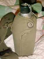 VINTAGE WWII U.S. ARMY CANTEEN & CANTEEN COVER 1943 1945 ALUMINUM