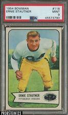 1954 Bowman Football #118 Ernie Stautner Steelers HOF PSA 9 MINT CENTERED