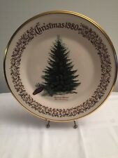 1980 Lenox Limited Christmas Commemorative Issue dinner plate - Brewer's Spruce