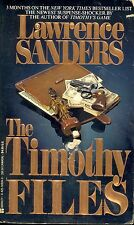 The Timothy Files by Lawrence Sanders (1988, Paperback)