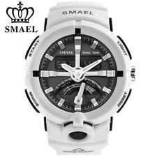 SMAEL LED Digital Electronic Wristwatch Men Dual Display Sport Chronograph Watch