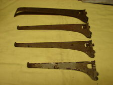 4 Antique Metal Ideal Showcase Shelf Supports Brackets