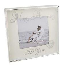"Shudehill Giftware Happy Anniversary 30 years Photo Frame 3"" x 3"""