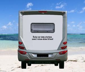 Aufkleber Reise vor dem Sterben, sonst... Wohnmobil Wohnwagen Camping Caravan