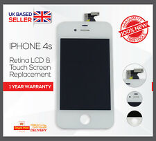 iPhone 4S White Touch Screen LCD Display Digitizer Assembly Replacement