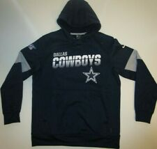 New DALLAS COWBOYS FOOTBALL Nike Therma-Fit Performance HOODIE MEN Large L Navy