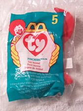 TY Pinchers the Lobster Teenie Beanie McDonalds New in Bag! 1998 #5