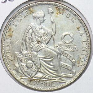 Peru 1930 1 Sol 293684 combine