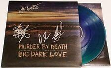 MURDER BY DEATH BAND SIGNED BIG DARK LOVE COLOR VINYL LP RECORD RARE W/COA