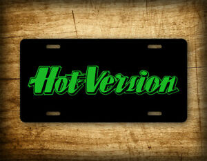 Hot Version JDM License Plate Green Text Japanese Drift Car Auto Tag
