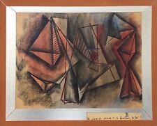 Trameau Raymond pastel et crayon sur papier signée Art Abstrait Abstraction