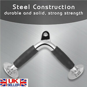 Home Cable Attachment Machine Exercise Triceps Rope V Shaped Pull Up Bar Steel